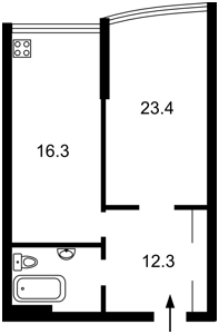 Квартира Драгомирова, 2а, Київ, H-45466 - Фото2