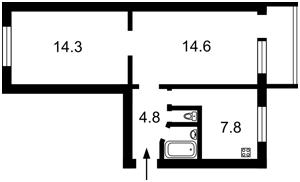 Квартира Підвисоцького Професора, 3, Київ, Z-496236 - Фото2