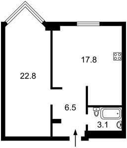 Квартира Драгомирова Михаила, 14а, Киев, Z-585740 - Фото2