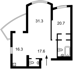 Квартира Героев Сталинграда просп., 12е, Киев, Z-417524 - Фото2