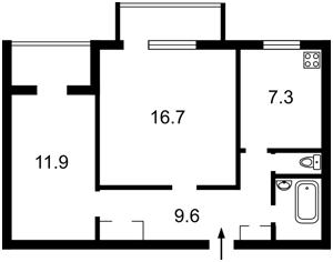 Квартира Гагаріна Юрія просп., 14, Київ, H-45373 - Фото2