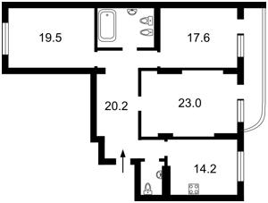 Квартира Ахматової Анни, 13д, Київ, E-38939 - Фото2