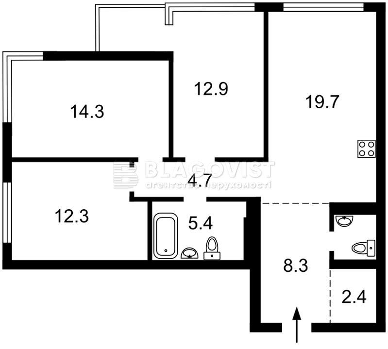 Квартира Z-576061, Олеся Александра, 6а, Киев - Фото 4