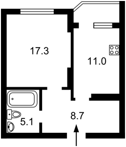 Квартира Мишуги О., 2, Київ, K-11560 - Фото2