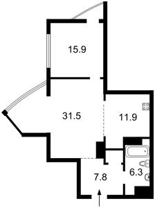 Квартира Глибочицька, 32в, Київ, H-45533 - Фото 2