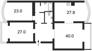 Квартира Оболонська набережна, 7 корпус 1, Київ, X-21586 - Фото2