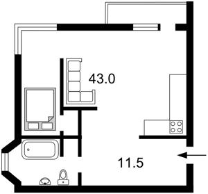 Квартира Чавдар Єлизавети, 8, Київ, M-36546 - Фото2