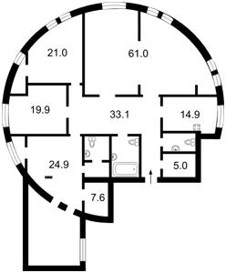 Квартира Шота Руставелі, 44, Київ, H-45544 - Фото2