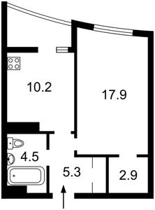 Квартира Оболонський просп., 1 корпус 2, Київ, D-35675 - Фото2