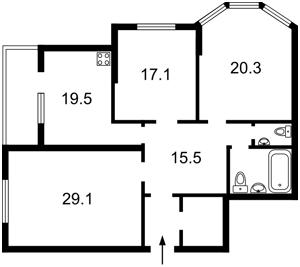 Квартира Тютюнника Василя (Барбюса Анрі), 5в, Київ, Z-589810 - Фото 2
