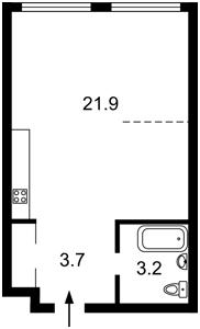 Квартира Соборності просп. (Возз'єднання), 17 корпус 2, Київ, Z-557659 - Фото2