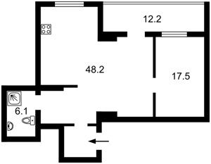Квартира Краснова М., 19, Київ, Z-592167 - Фото2