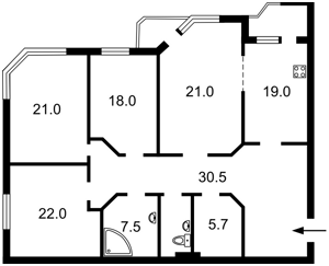 Квартира Коперника, 12д, Київ, Z-584846 - Фото 2