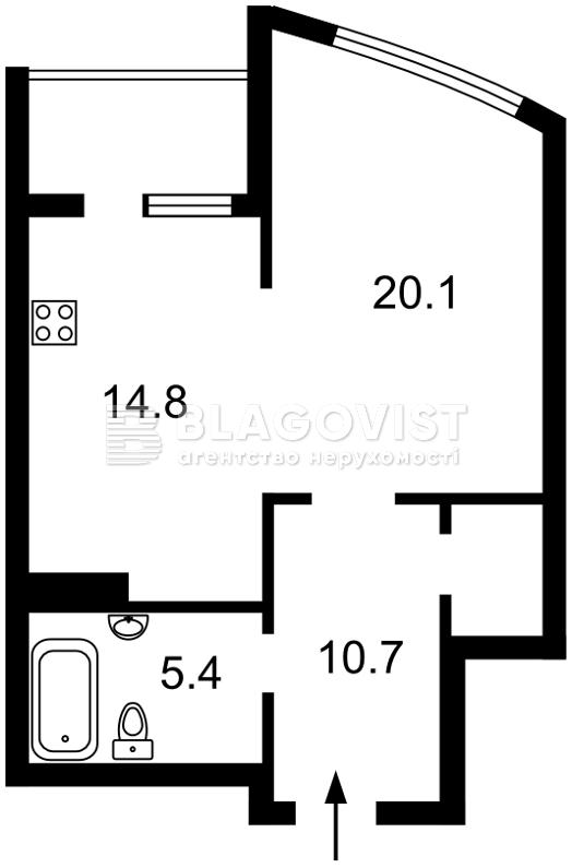Квартира D-35718, Никольско-Слободская, 1, Киев - Фото 6