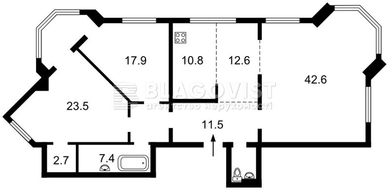 Квартира M-35532, Героїв Сталінграду просп., 24, Київ - Фото 6