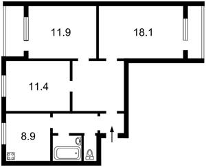 Квартира Приозерна, 10в, Київ, Z-590282 - Фото 2