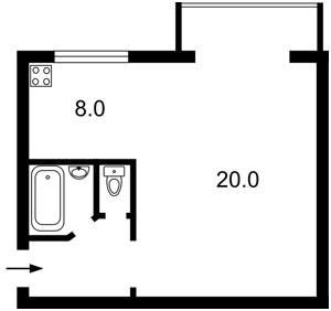 Квартира Голосіївський проспект (40-річчя Жовтня просп.), 82, Київ, Z-500270 - Фото2