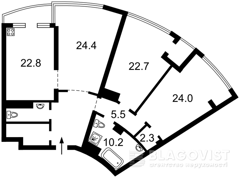 Квартира F-42545, Коновальца Евгения (Щорса), 26а, Киев - Фото 7