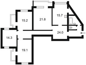 Квартира Бажана Николая просп., 30, Киев, Z-597718 - Фото2