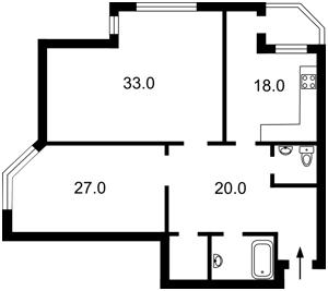 Квартира Гетьмана Вадима (Індустріальна), 1а, Київ, K-11993 - Фото2