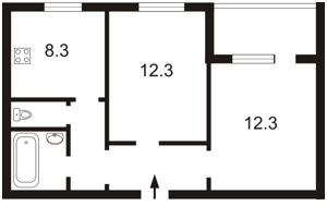 Квартира Гмирі Б., 9а, Київ, Z-596052 - Фото2