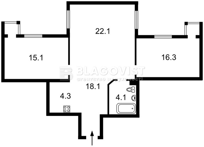 Квартира F-42559, Лобановского просп. (Краснозвездный просп.), 6д, Киев - Фото 5