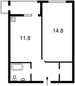 Квартира Бендукідзе Кахи, 2, Київ, Z-335615 - Фото 2