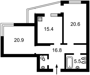 Квартира Ирпенская, 69б, Киев, Z-573969 - Фото2