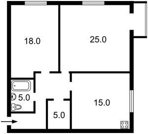 Квартира Ревуцького, 40г, Київ, R-30170 - Фото 2