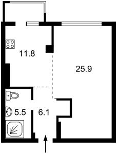 Квартира Липківського Василя (Урицького), 33а, Київ, M-36698 - Фото 2