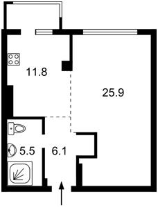 Квартира Липкивского Василия (Урицкого), 33а, Киев, M-36698 - Фото2