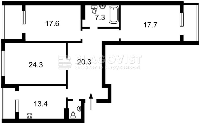 Квартира H-45682, Драгомирова Михаила, 20, Киев - Фото 6