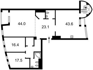 Квартира Коновальца Евгения (Щорса), 36б, Киев, H-45688 - Фото2