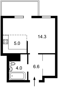 Квартира Перемоги просп., 67 корпус 2, Київ, D-35752 - Фото2