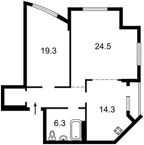 Квартира Героїв Сталінграду просп., 2г корпус 1, Київ, N-5605 - Фото 2