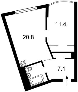 Квартира Героев Сталинграда просп., 2д, Киев, X-23714 - Фото 2