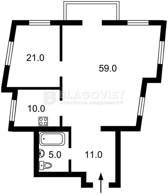 Квартира E-39032, Борисоглібська, 16а, Київ - Фото 4