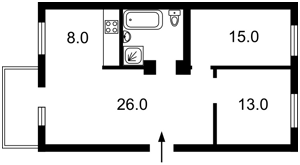Квартира Василевской Ванды, 14, Киев, Z-812301 - Фото2