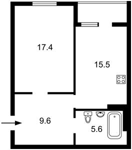 Квартира Нижнеключевая, 14, Киев, Z-602087 - Фото2