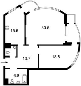 Квартира Механизаторов, 2а, Киев, Z-1051835 - Фото2