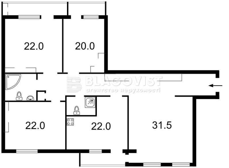 Квартира C-107102, Героев Сталинграда просп., 6, Киев - Фото 3