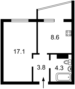 Квартира Софії Русової, 7, Київ, Z-596010 - Фото 2