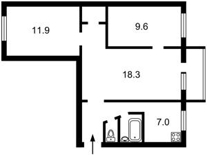 Квартира Гавела Вацлава бульв. (Лепсе Івана), 3, Київ, F-23761 - Фото2