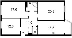 Квартира Ломоносова, 60/5, Киев, X-15681 - Фото2