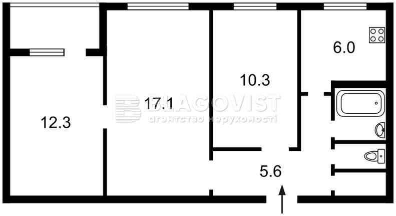 Квартира A-110860, Коласа Якуба, 11, Киев - Фото 2