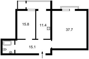 Квартира Коновальца Евгения (Щорса), 44а, Киев, Z-1537354 - Фото 2