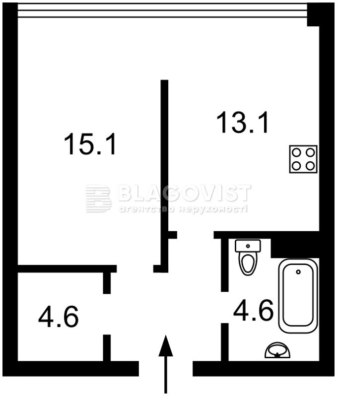 Квартира D-35816, Харьковское шоссе, 19, Киев - Фото 4