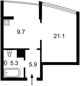 Квартира Малевича Казимира (Боженко), 48, Киев, Z-613219 - Фото 2
