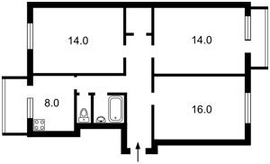Квартира Миколайчука Івана (Серафимовича), 17, Київ, Z-1180149 - Фото 2