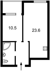 Квартира Заречная, 2 корпус 2, Киев, F-42454 - Фото2